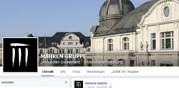 Immobilienentwicklung der Mähren Gruppe auf Facebook verfolgen