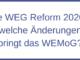 Die WEG Reform 2020 – welche Änderungen bringt das WEMoG?
