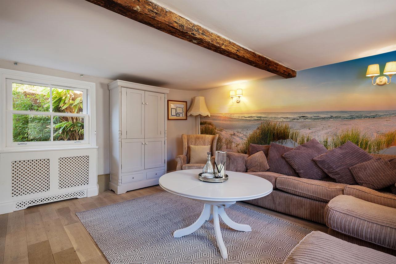Fototapete Meer und Dünnen im Wohnzimmer