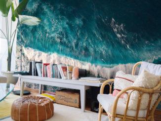 Fototapete stürmisches Meer im Wohnzimmer